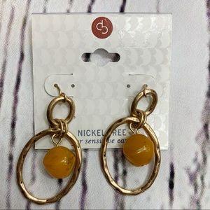 ❄️3/$25 Nickel Free Brushed Gold Drop Earrings